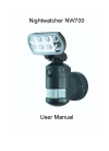 NightWatcher NW700 Operation & User's Manual 11 pages