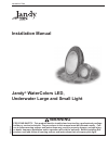 Jandy WaterColors LED Installation Manual 20 pages