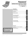 Panasonic Toughbook CF-74CCB02BM Operating instructions manual