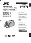 JVC GZ MG335 - Everio Camcorder - 800 KP Instructions manual