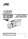 JVC GY-DV300 Instruction manual