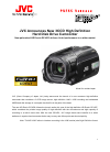 JVC GZ HD3 - Everio Camcorder - 1080i Release note
