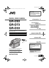 JVC GR-D93 Instructions manual