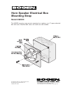 Bogen Horn Speaker Electrical Box Mounting Strap HSES10 Product Manual 1 pages