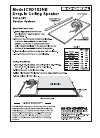 Bogen CSD1X2NBVR Install Manual 1 pages