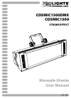 ProLights Cosmic 1500DMX Operation & User's Manual 28 pages