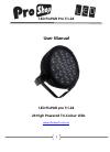 Pro Shop LED PixPAR pro Tri-24 Operation & User's Manual 12 pages