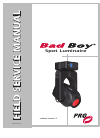 PRG BAD Boy Field Service Manual 113 pages