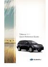 Subaru Legacy 2011 Quick reference manual