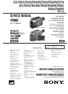 Sony CCD-TR315 - Video Camera Recorder 8mm