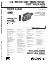 Sony CCD-TR57 - Video Camera Recorder 8mm