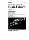 Sony Handgcam CCD-FX425 Service