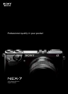 Sony NEX-7 Instruction Manual