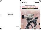 Sony BVP-900 Series