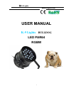 K-9 Lights Bulldog Operation & User's Manual 12 pages
