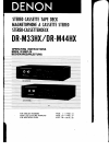 Denon DR-M33HX Operating Instructions Manual 19 pages