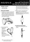 Insignia NS-GXB1301 Quick Setup Manual 2 pages
