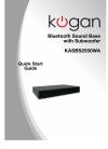 Kogan KASBS2550WA Quick Start Manual 5 pages