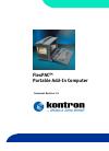 Kontron FlexPAC Manual 137 pages