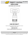 NightWatcher NW520 Operation & User's Manual 5 pages