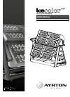 Ayrton icecolor 1000 Operation & User's Manual 28 pages