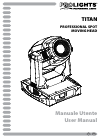ProLights Titan Operation & User's Manual 56 pages