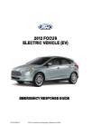 Ford Focus 2012 Emergency response manual