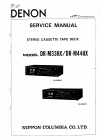 Denon DR-M33HX Service Manual 48 pages