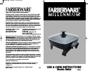 Farberware Millenium FS12B Use And Care Instructions Manual 16 pages