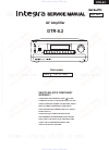 Integra DTR-8.2 Service Manual 89 pages