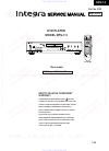 Integra DPS-7.3 Service Manual 48 pages