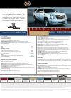 Cadillac 2011 Escalade Specifications