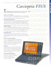 Casio Cassiopeia FIVA Specifications 2 pages