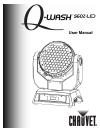 Chauvet Q-WASH 560Z-LED Operation & user's manual